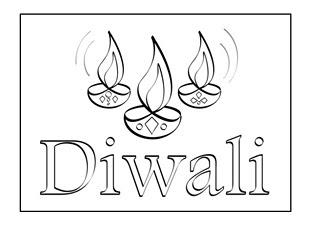 diwali coloring pages images - diwali coloring pages