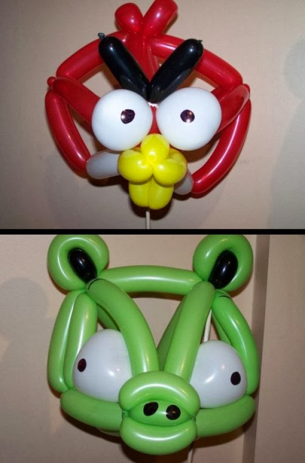 Globos de Angry Birds para Decoracion de Fiestas Infantiles, parte 2