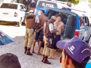Dois detentos foram capturados após o motim. (Foto: Leandro Alves/ Portal Bahia News.Com)