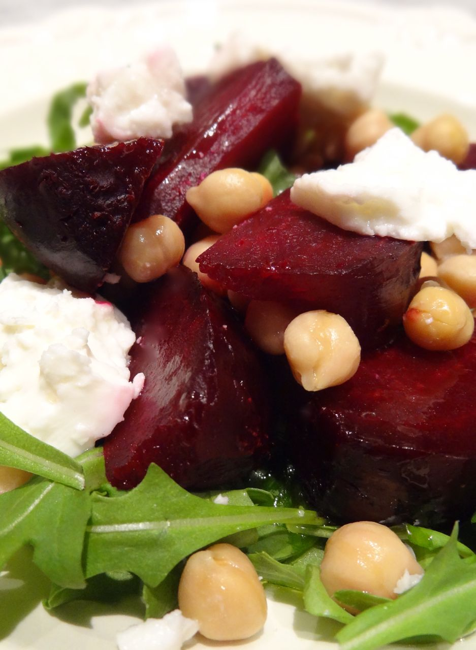 Scrumpdillyicious: Roasted Beet, Chickpea & Feta Salad