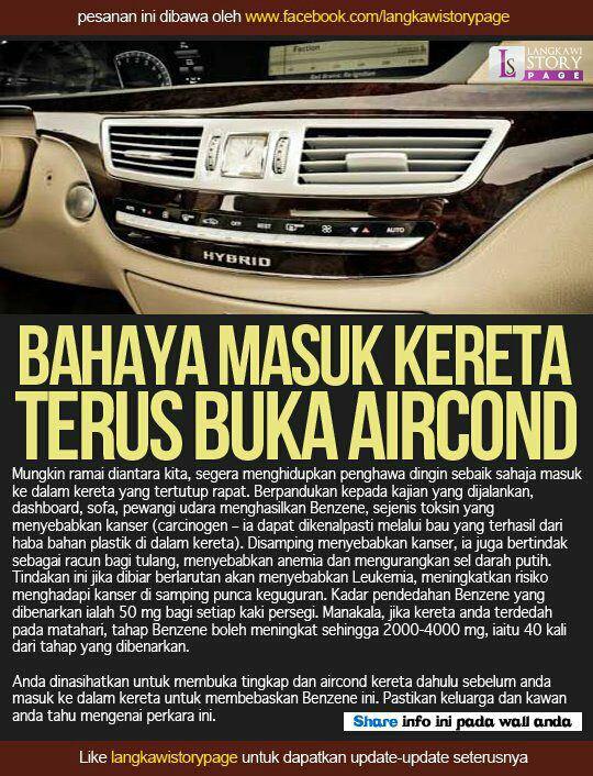 Bahaya aircond.