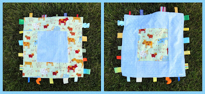 farm print blankie