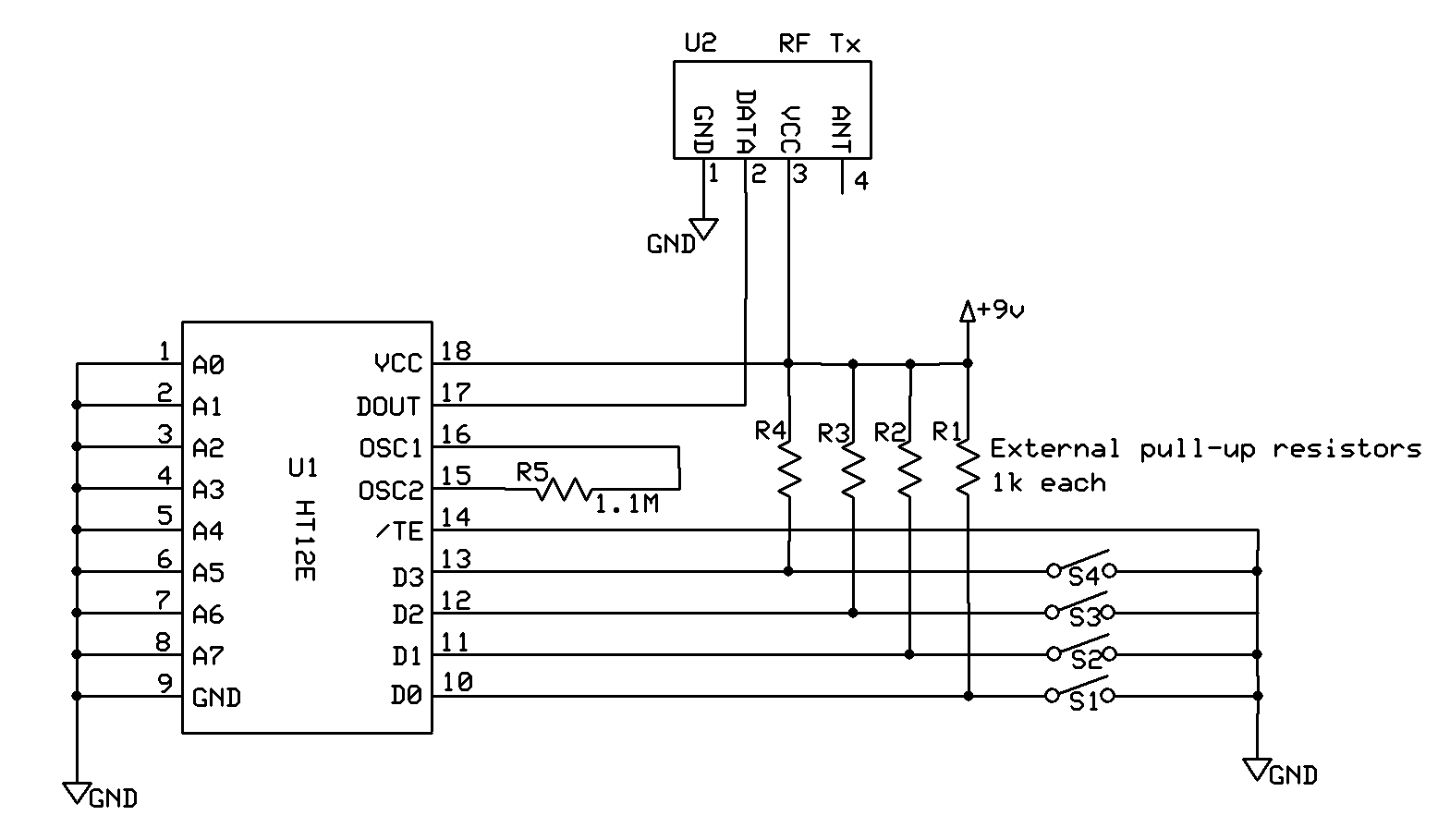 Basic Electronics Car Door Remote Key Sensorreceiver And Transmitter Receiver Circuit Designing The