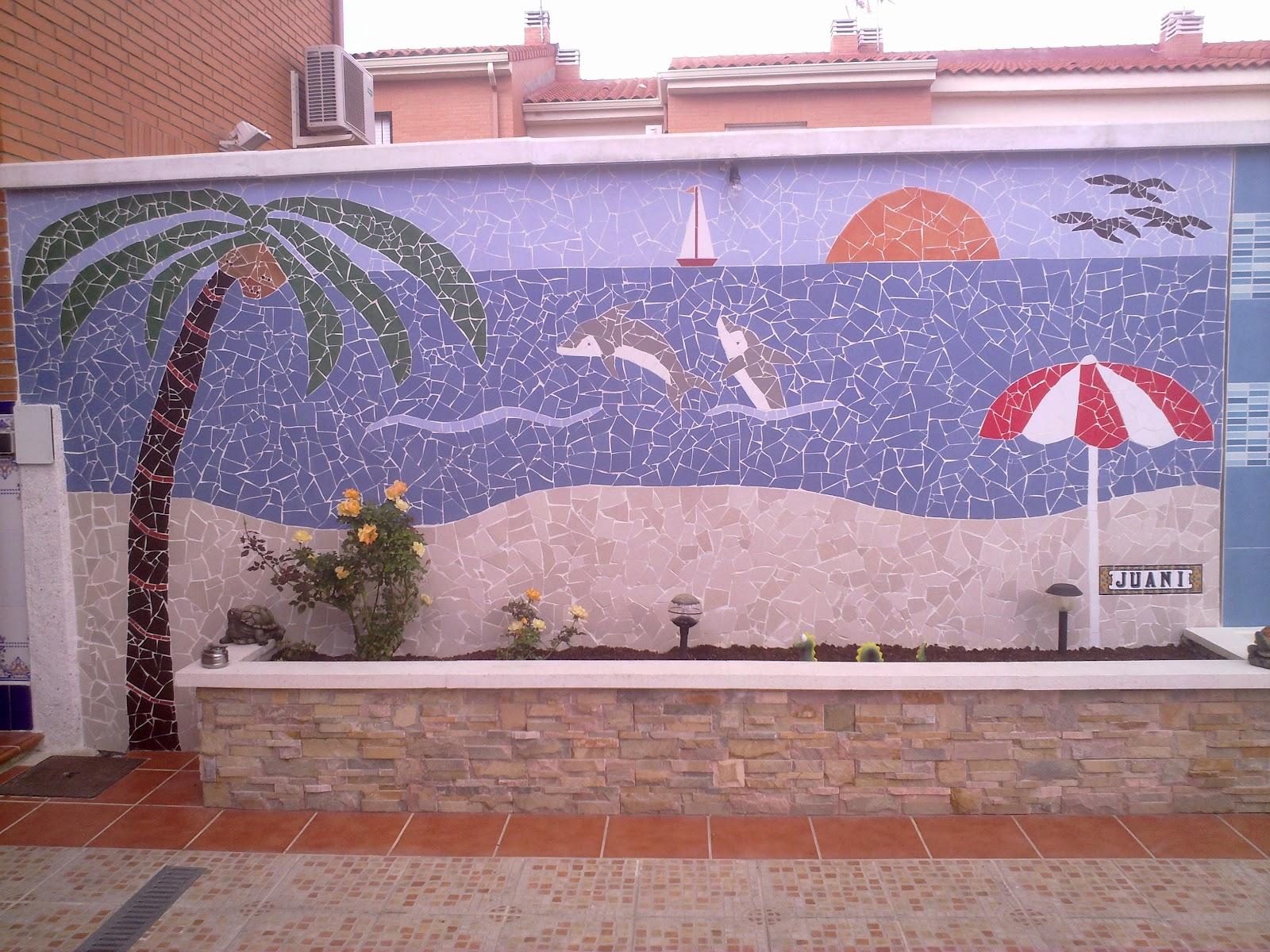Juani manualidades mosaico de azulejos rotos - Azulejos para mosaicos ...