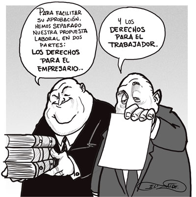 Resultado de imagen para reforma laboral, caricatura