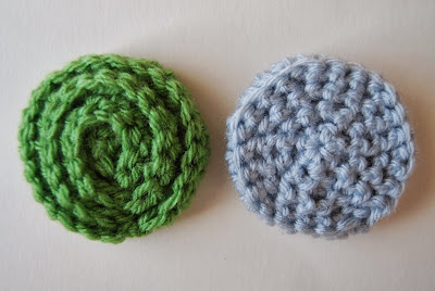 free crochet pattern no sew rosette front and back
