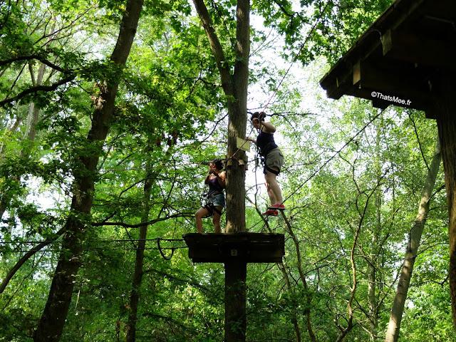Parcours accrobranche Xtrem Aventures  Cergy 95 foret bois jeu plein-air activite outdoor evjf evg ThatsMee.fr