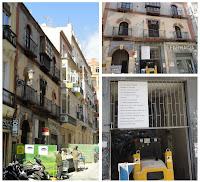 Ilegal demolición parcial del edificio de calle Casapalma 7, en el BIC Centro Histórico de Málaga