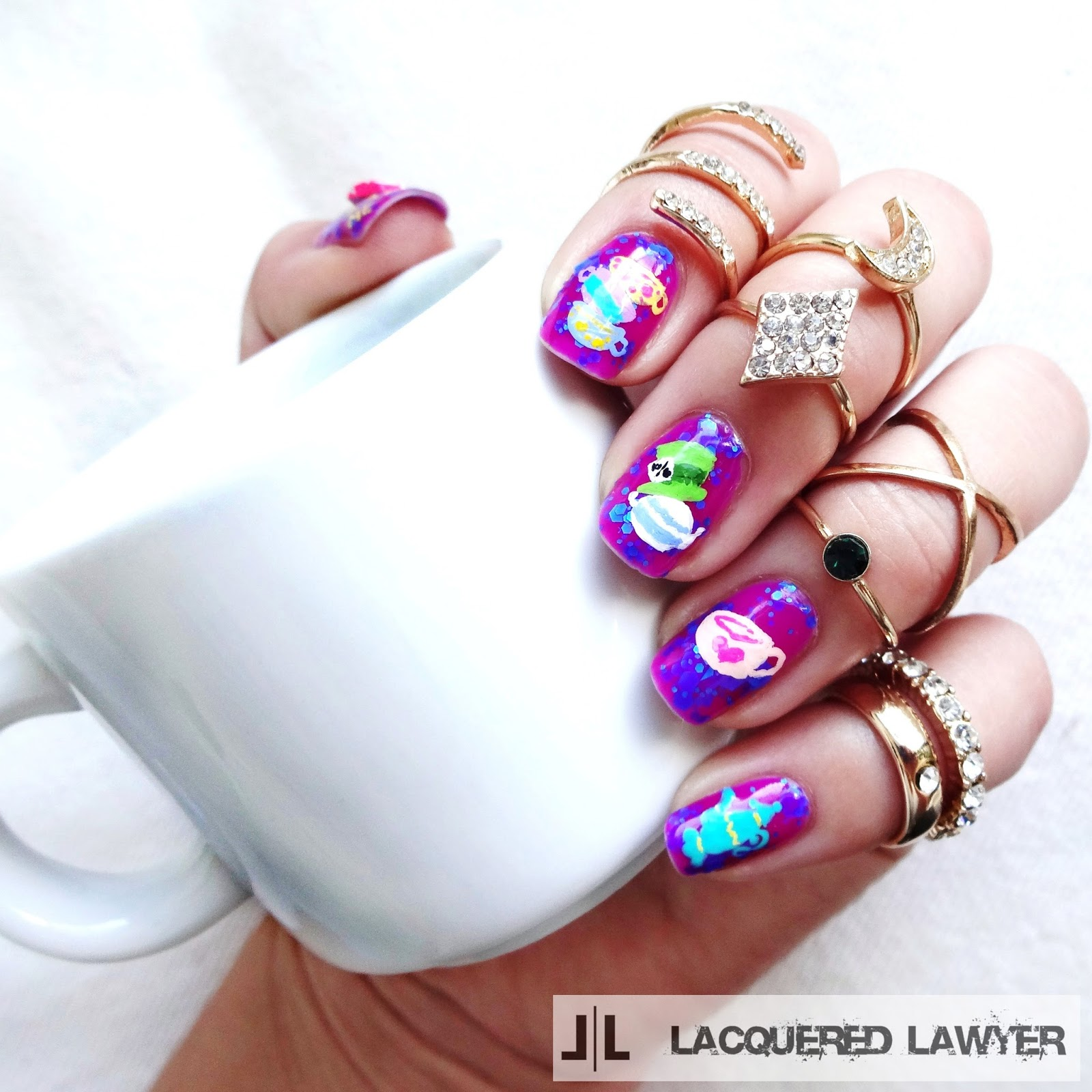 Mad Hatter Tea Party Nails