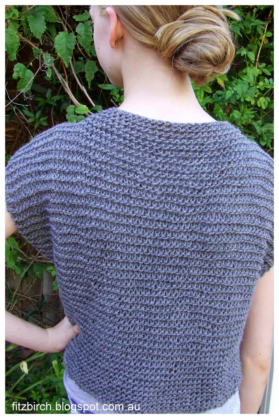 Vest Knitting Pattern Beginners : Fitzbirch crafts garter stitch beginner vest