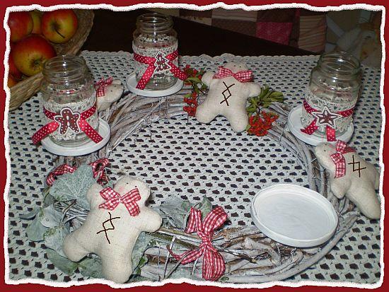 Alex teelicht gl ser f r den adventkranz - Glaser dekorieren fur weihnachten ...
