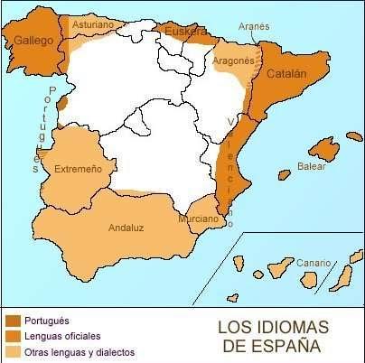 Mapa de idiomas de España