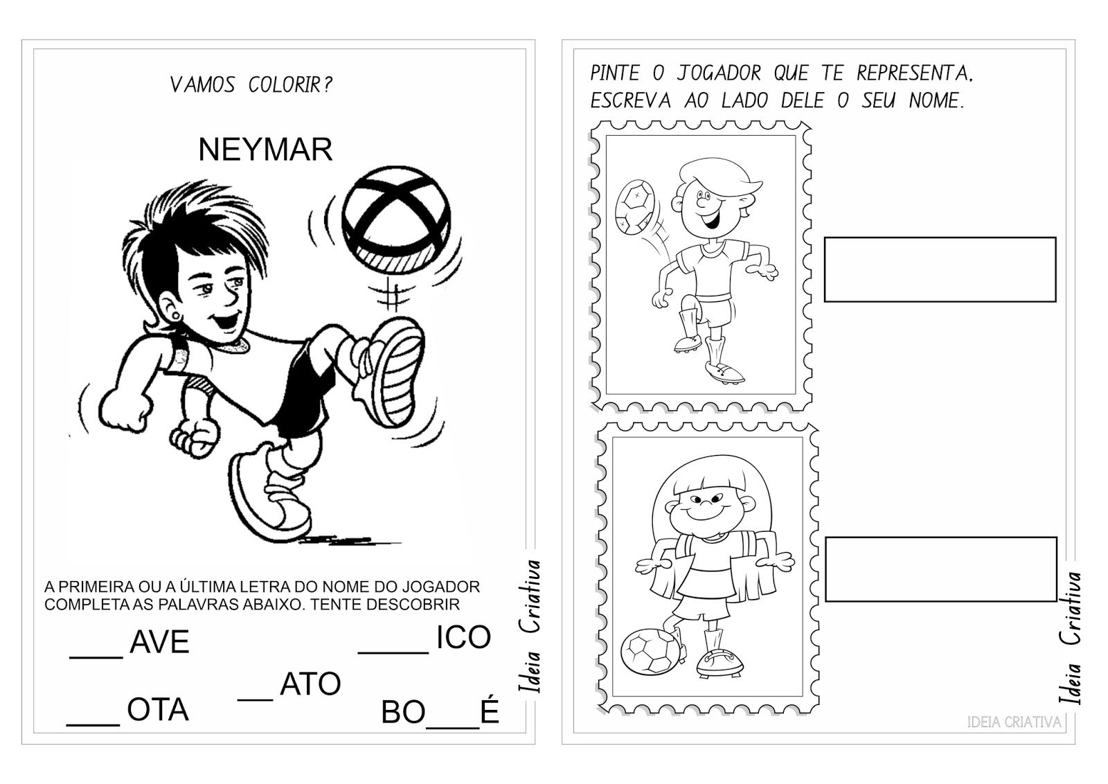 Atividades Copa do Mundo Brasil 2014 Educação Infantil