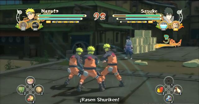 Shadown clone along with rasenshuriken
