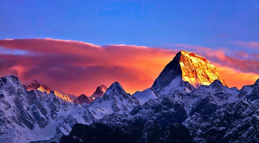 Kamet Mountain in India