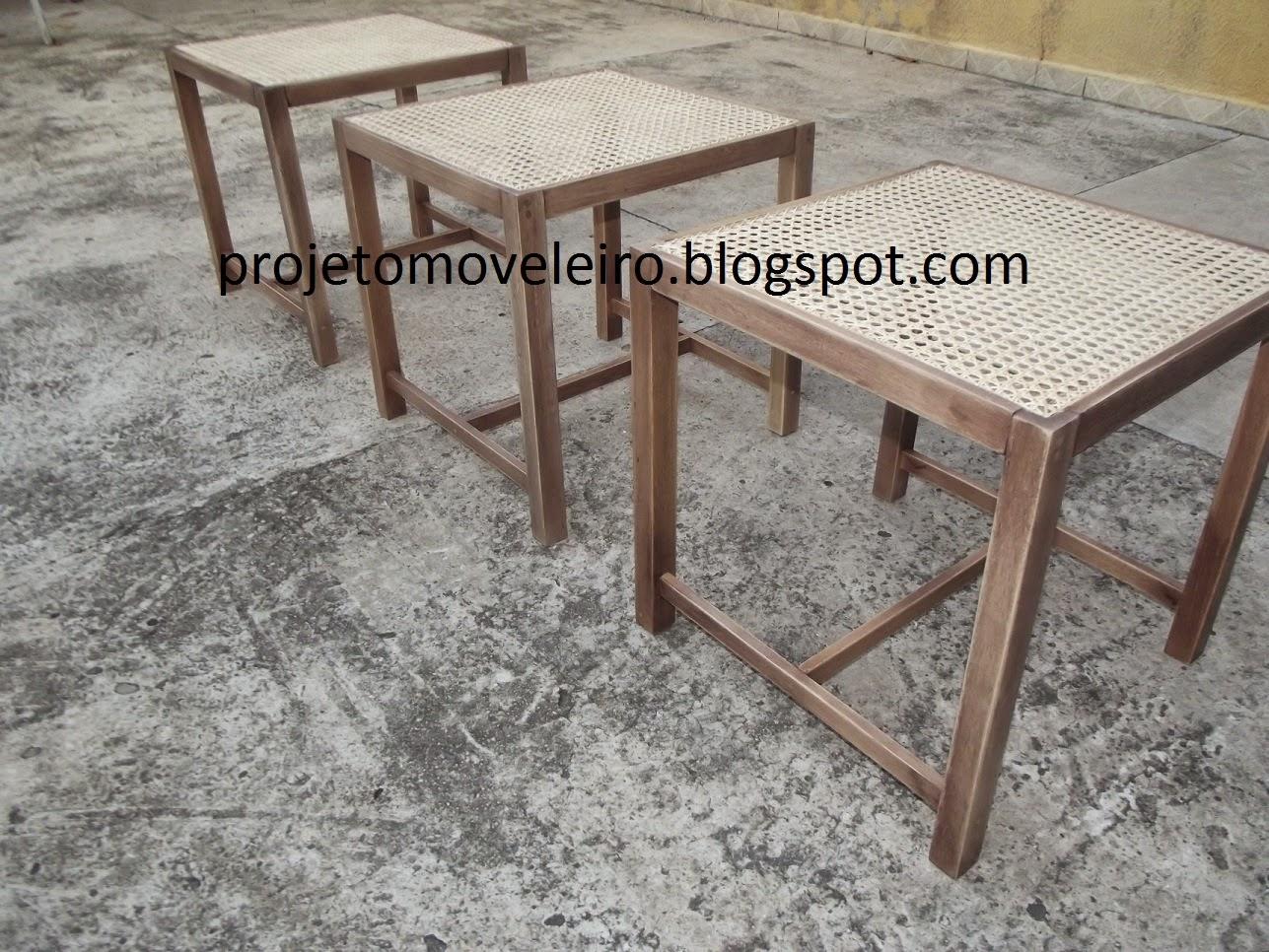 MOVEIS SOB MEDIDA: Banco/banqueta em madeira maciça com tela de #60493D 1287x966