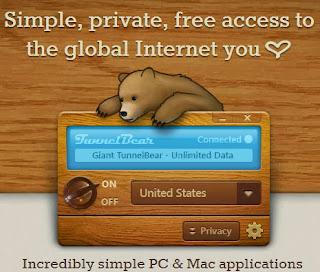 TunnelBear - простой способ выхода в Интернет с IP адреса другой страны.