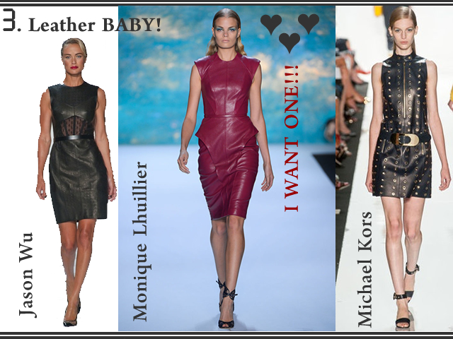 Spring Summer 2013 Fashion Trend Alert - Leather Baby