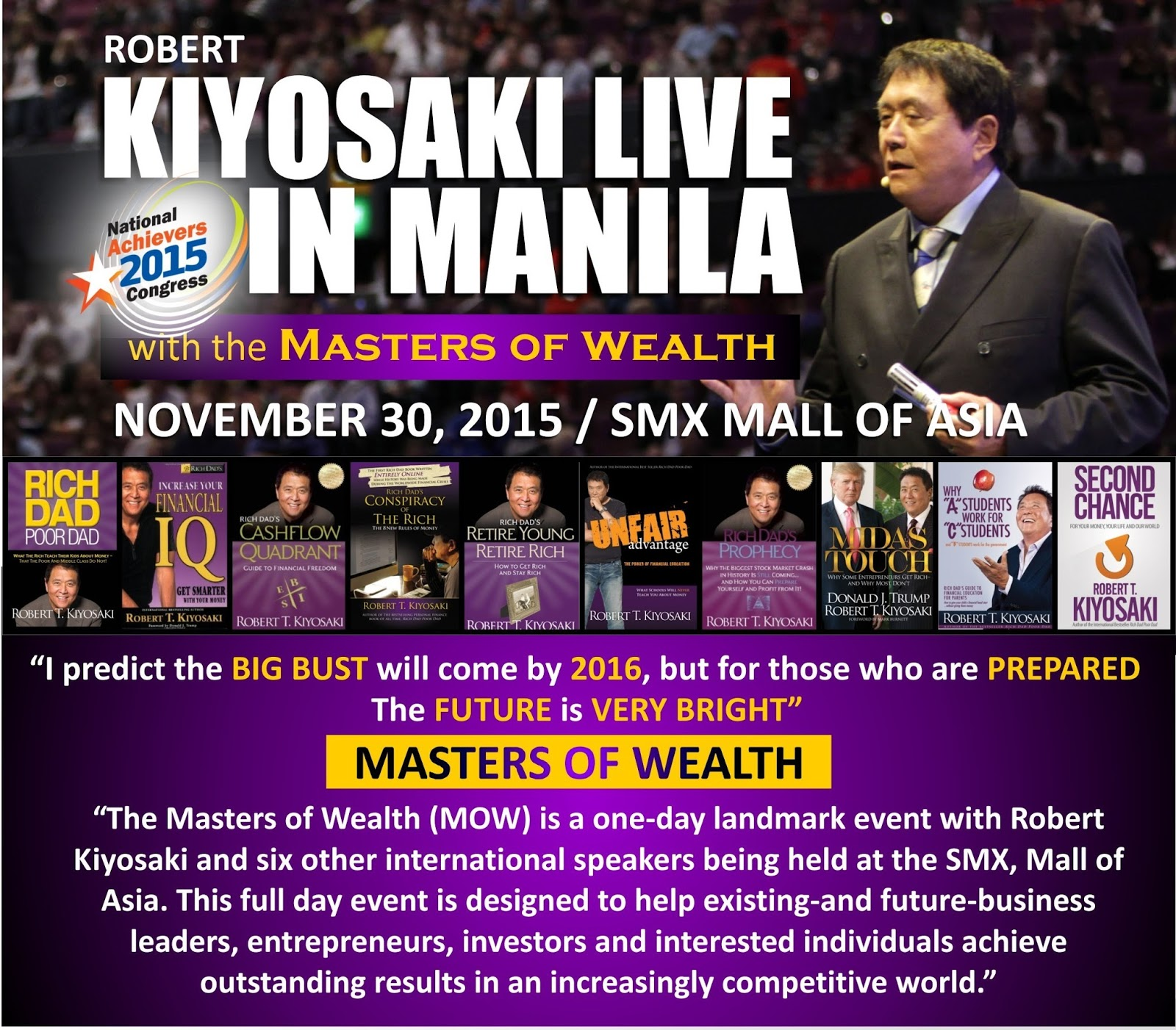 Whats Up Robert Kiyosakilive In Manila Rich Dad Poor Cashflow Quadrant 2 Buku The Highlight Of This Event Is Author New York Times Best Selling Book Mr Kiyosaki While