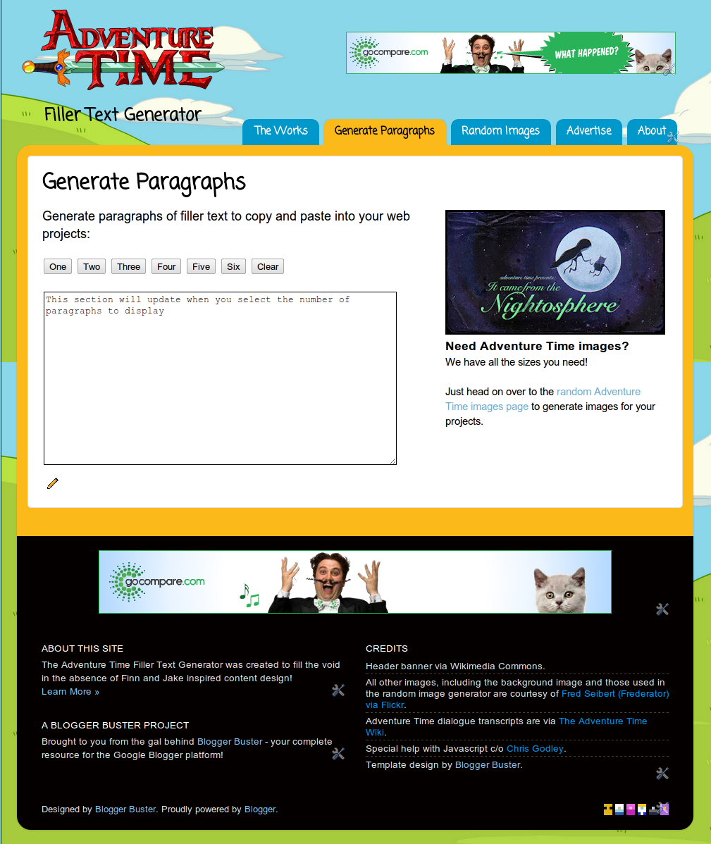 html text generator: