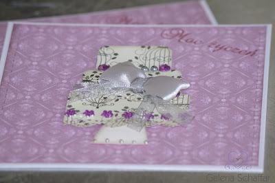 nietypowa kartka na ślub w kolorze różowym fioletowym galeria schaffar