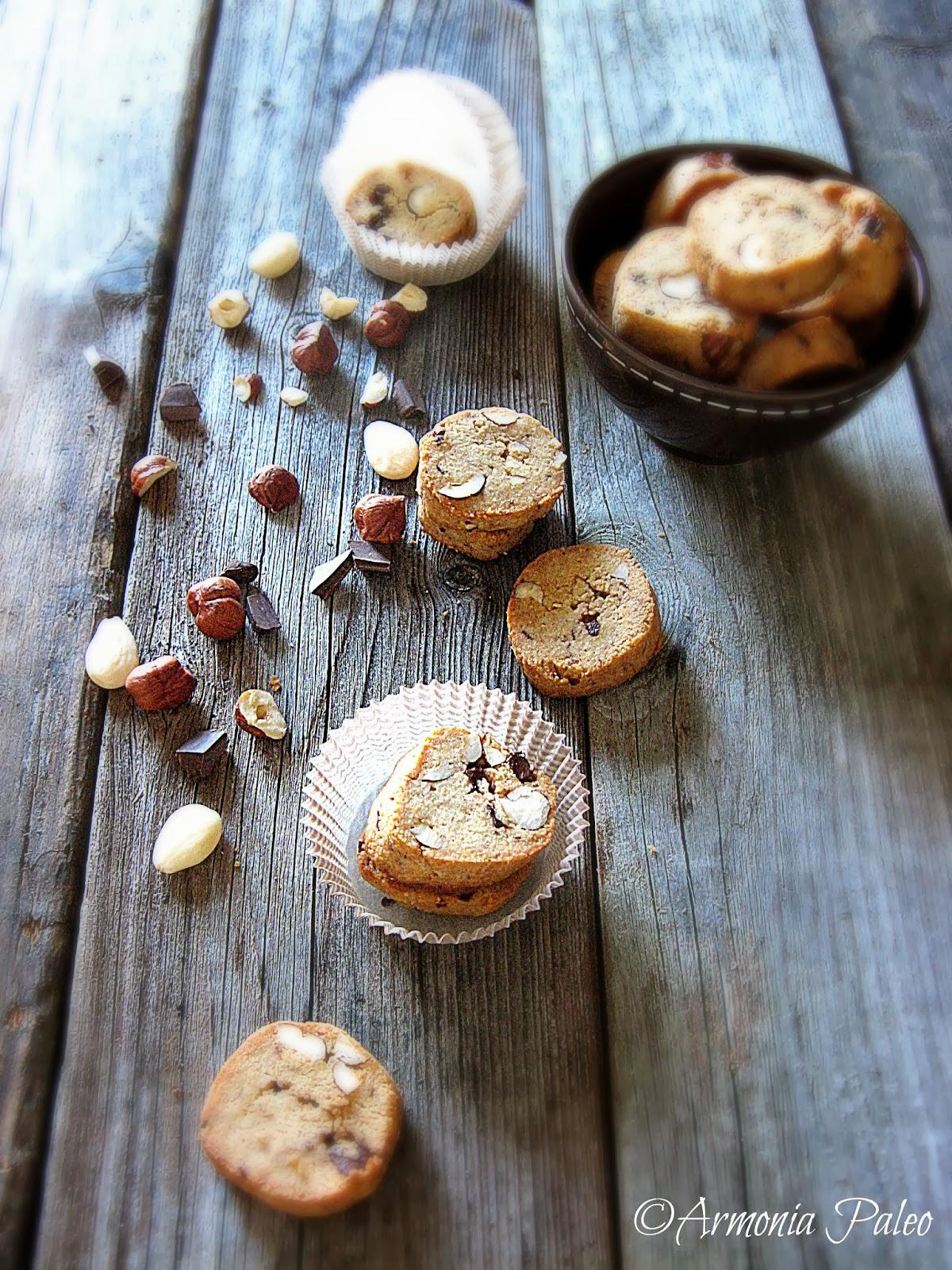 Biscottini Nocciola e Cioccolato di Armonia Paleo