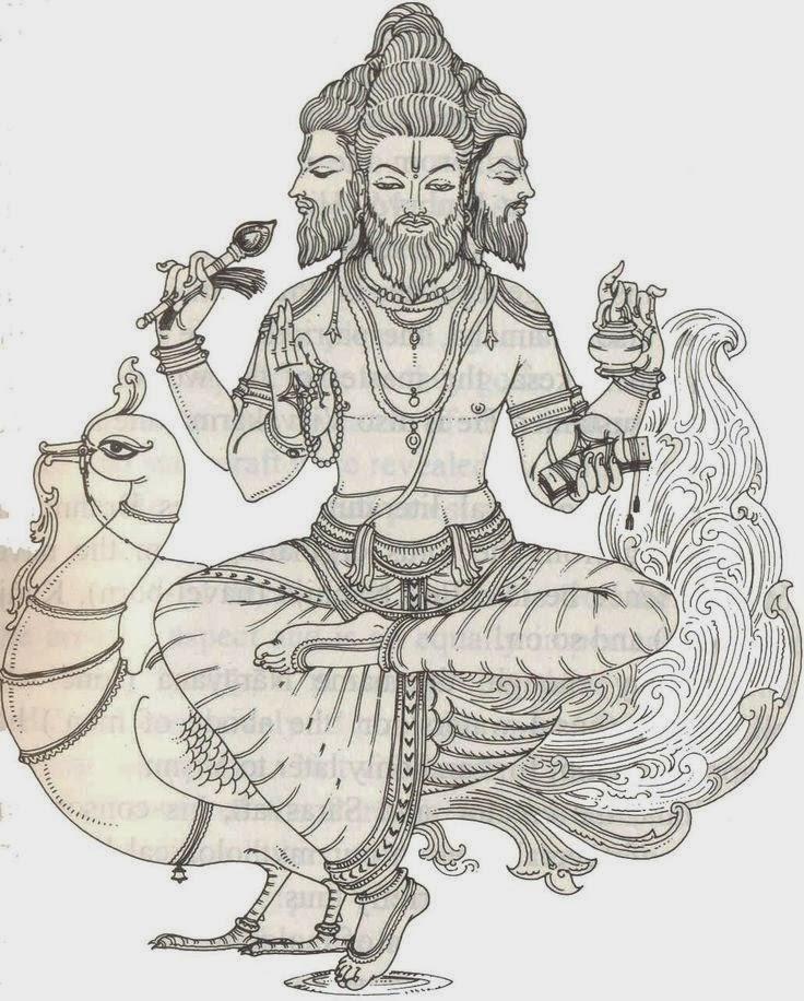 hindu god brahma the creator. Black Bedroom Furniture Sets. Home Design Ideas