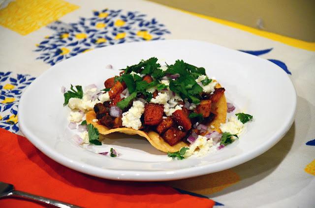 food for scot: Butternut Squash and Chorizo Tostadas