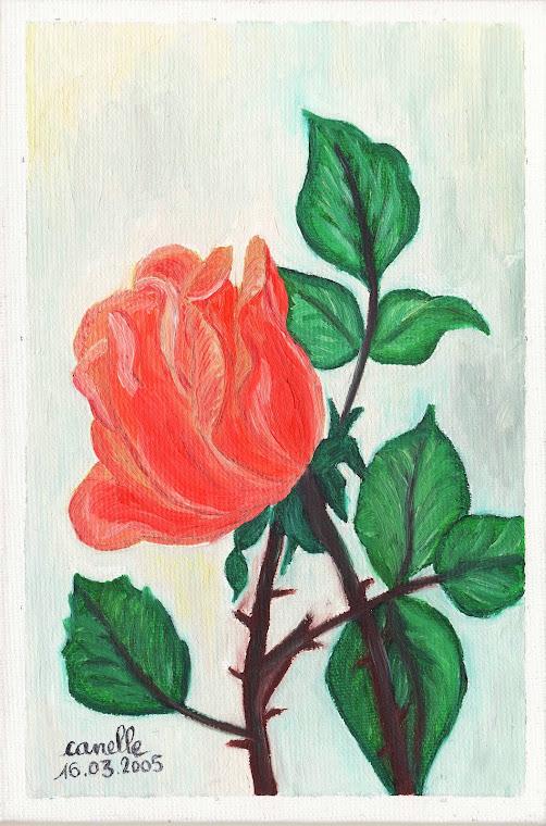 031 - 16032005 - NATURE MORTE A LA ROSE ROMANTIQUE