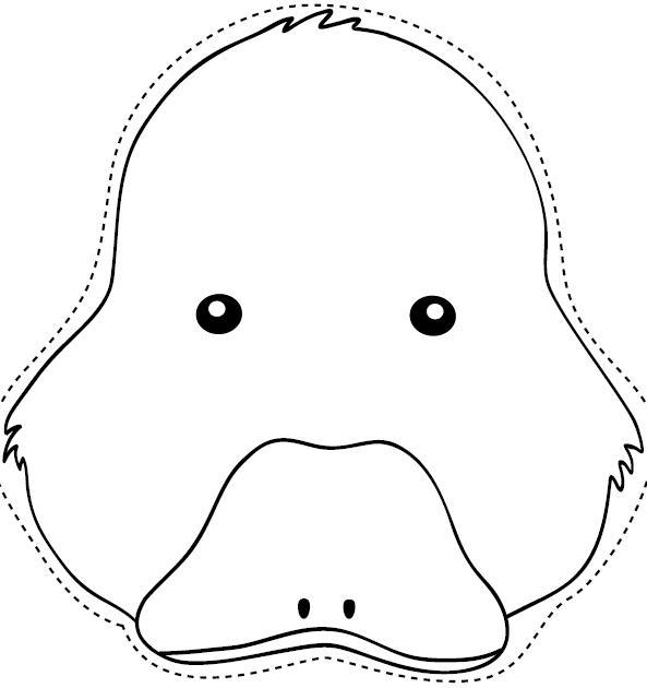 Mascara de pato para imprimir - Imagui