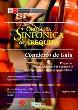 CONCIERTO DE LA ORQUESTA SINFÓNICA DE AREQUIPA