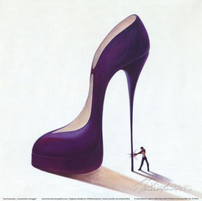 High heels art