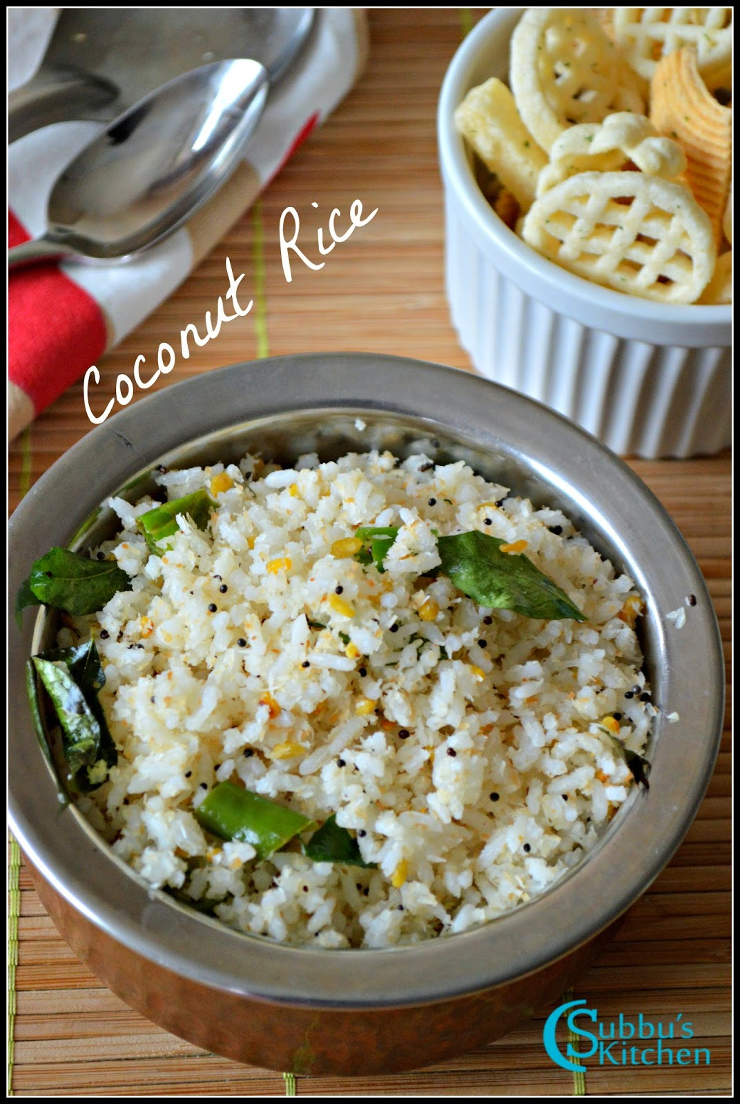 Coconut Rice Recipe | Thengai Sadam Recipe