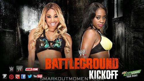 Pre-Show Cameron vs Naomi Funkadactyls Battleground Kickoff