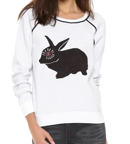 cute animal sweatshirt, fashion, trends, fashion trends, trendspotting, trend-spotting, Marc by Marc Jacobs Rabbit Intarsia Sweatshirt