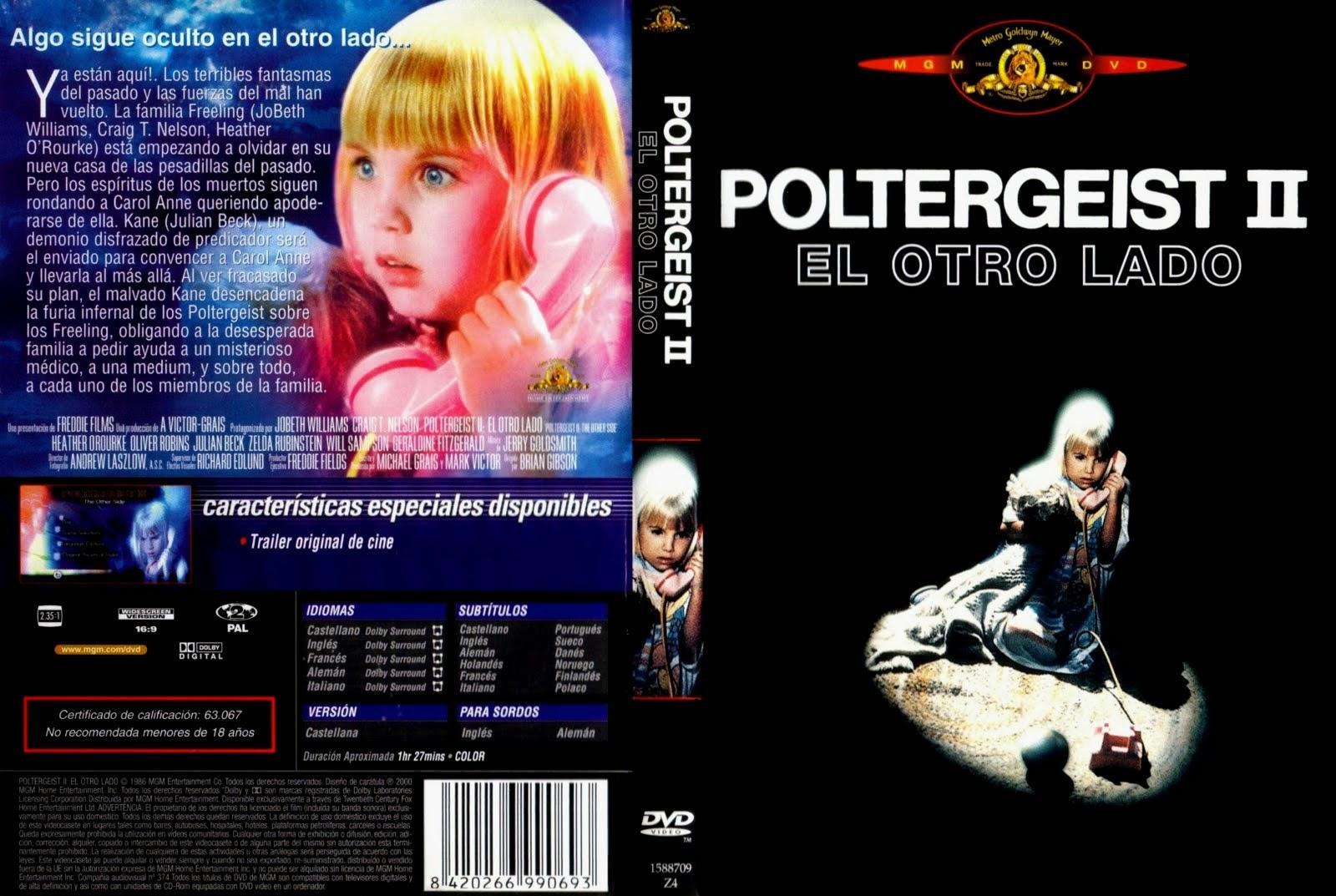Poltergeist 2 (El Otro Lado) Hdrip Castellano 1986
