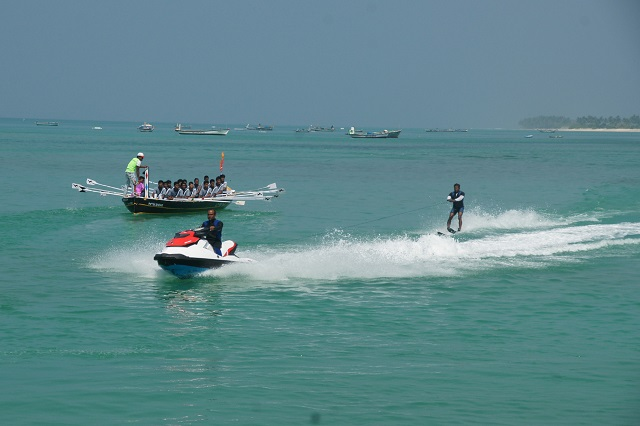 Fun with water scooter in Lakshadweep