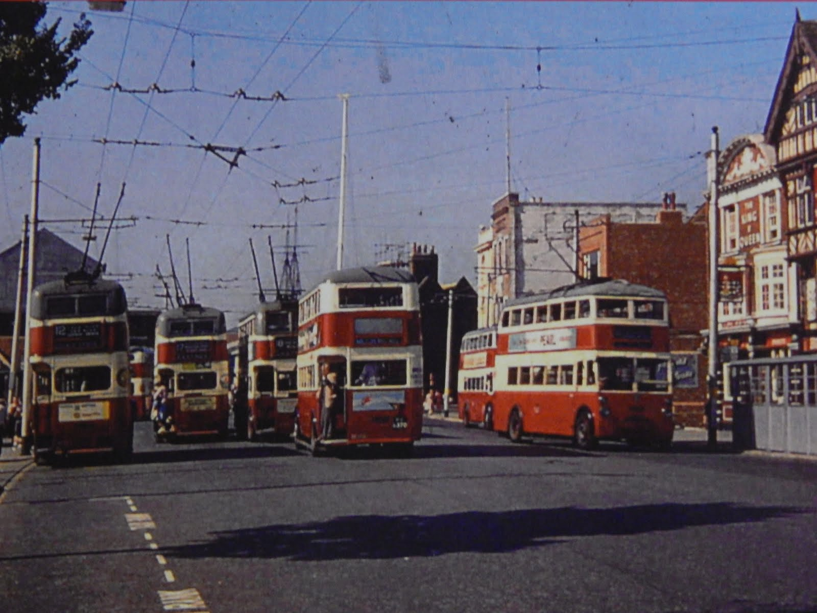 Trolley Buses a The Hard