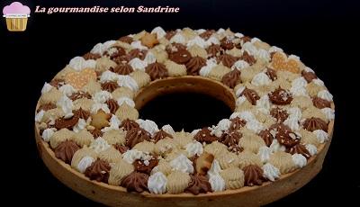 La tarte couronne Chocolat Praliné Vanille