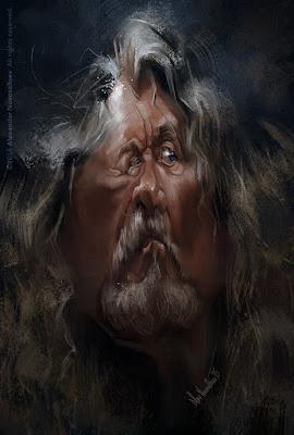 """Robert Plant"" por Alexander Novoseltev"