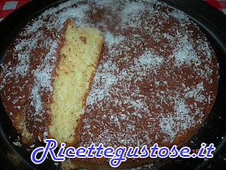 torta panna cocco e nutella