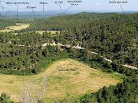 Panoràmica vers el nord de la Riera d'Oló des del mirador