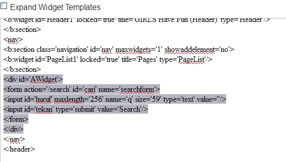 Photo of Contoh div id='AWidget' Kode HTML