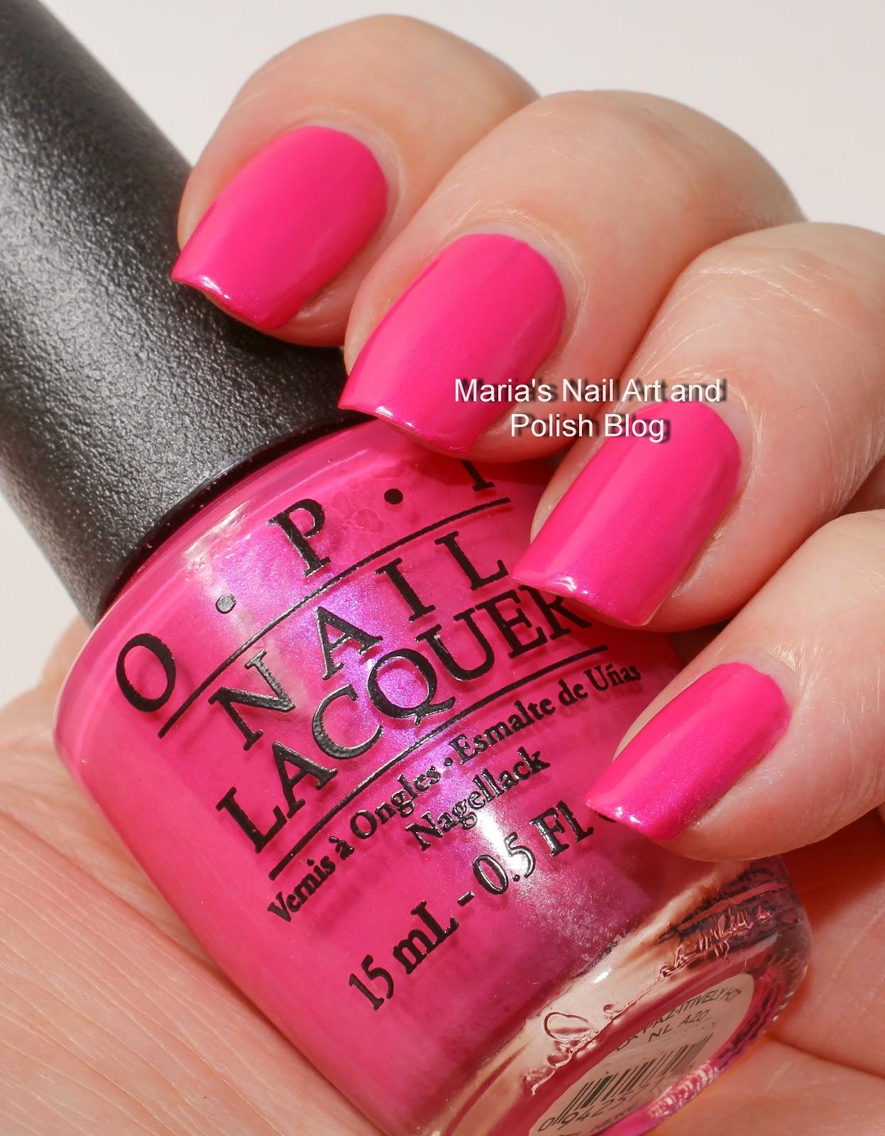 marias nail art and polish blog: opi la paz-itively hot and la paz