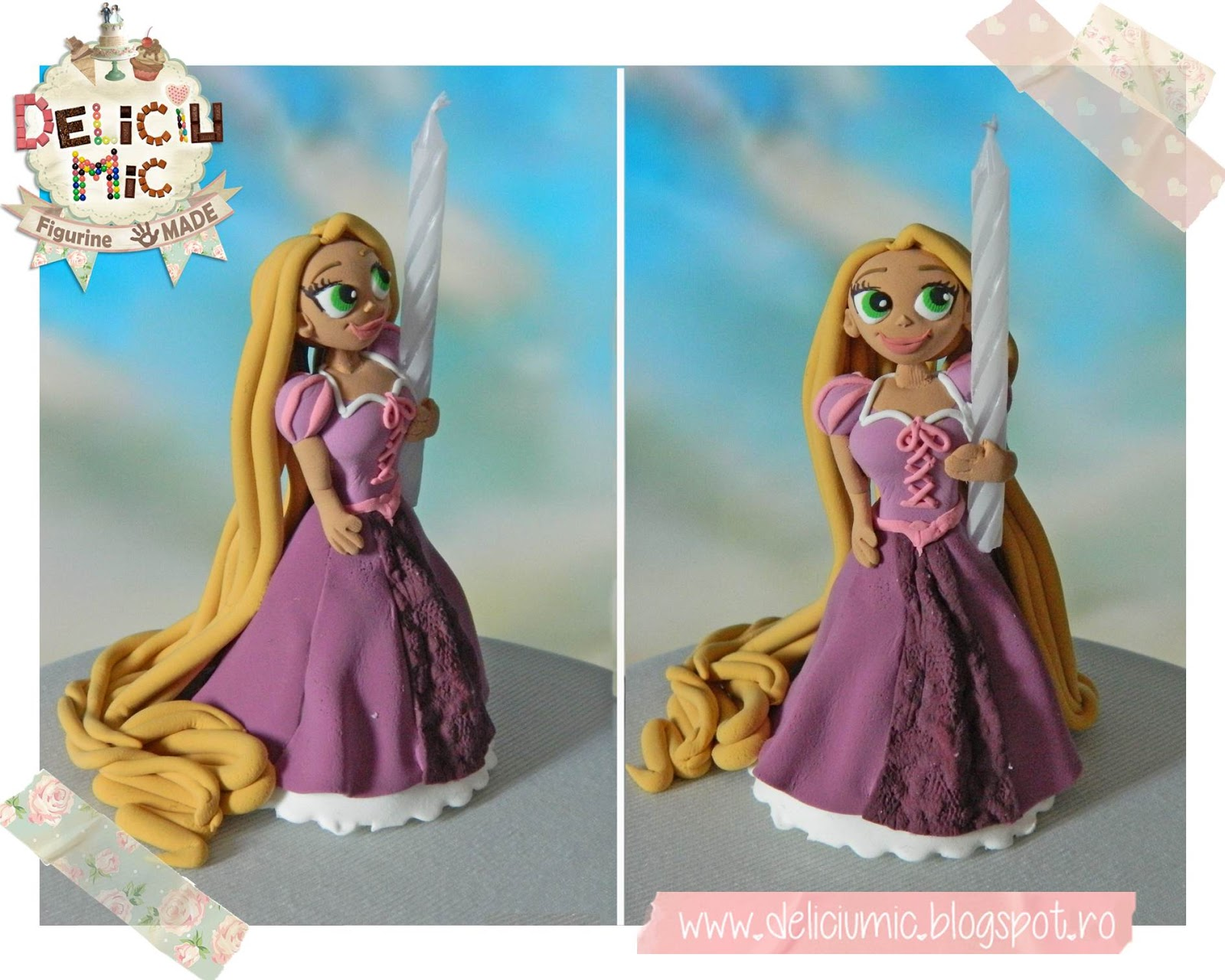 Figurina de tort Repunzel