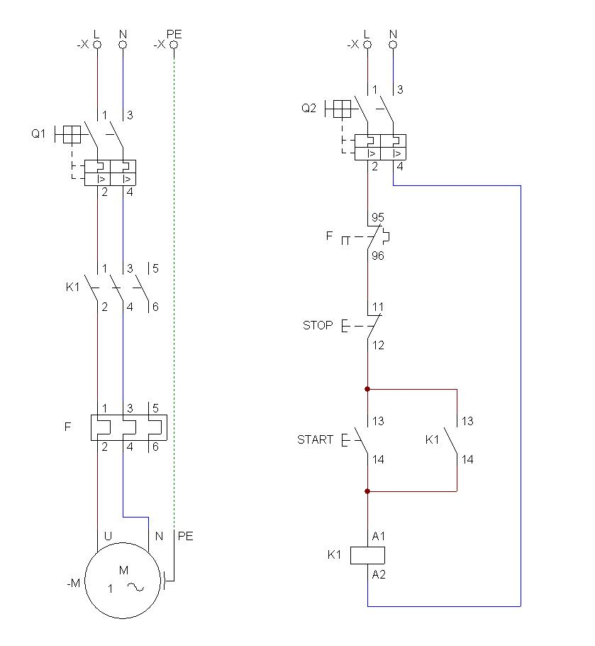electromecanica  arranque directo de motor monofasico
