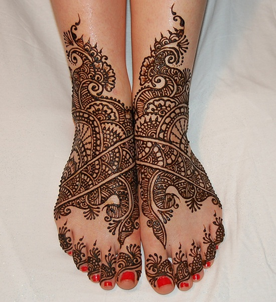 Mehndi Bridal Pics : Bridal mehndi designs for foot creativeideas