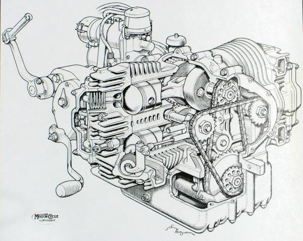 Motoblogn Motorcycle Blueprints And Sectioned Art