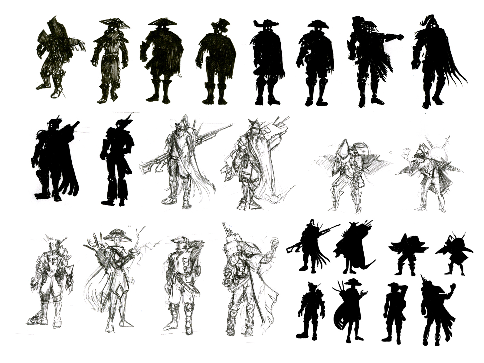 Character Design Silhouette Tutorial : Silhouette char design on pinterest concept