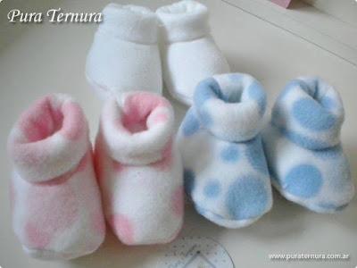 escarpines tela polar bebés